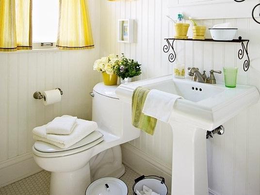Decoração para banheiro pequeno e simples  Decorando Casas -> Decoracao De Banheiro Com Material Reciclavel