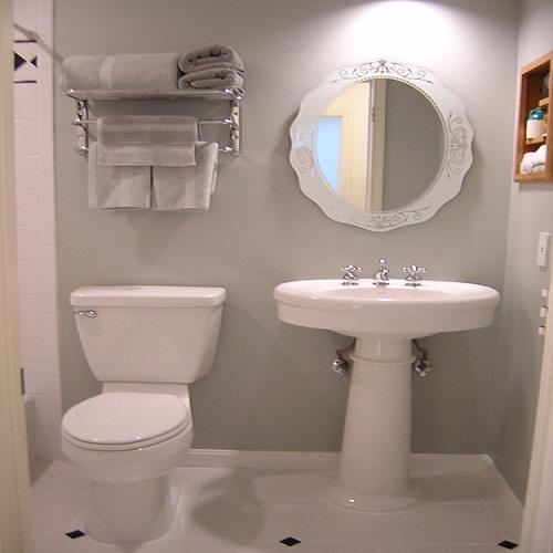 Decoração para banheiro pequeno e simples  Decorando Casas -> Banheiro Pequeno Com Banheira Simples