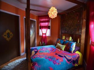 Decoração do quarto com estilo Indiano
