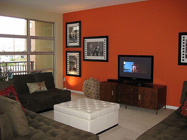 Dicas de cores da parede para sala moderna decorando casas - Wall paintings designs living room ...
