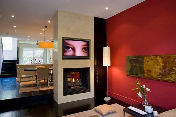 cores da parede para sala moderna