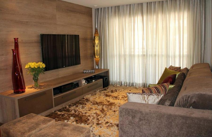 Painel de TV planejado para sala  Decorando Casas