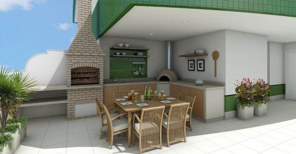 Área externa com churrasqueira e lavanderia Decorando Casas -> Decoração Para Area Externa Churrasqueira