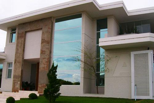 fachadas de casas com vidro : Fachadas de casas com pedras e vidros Decorando Casas