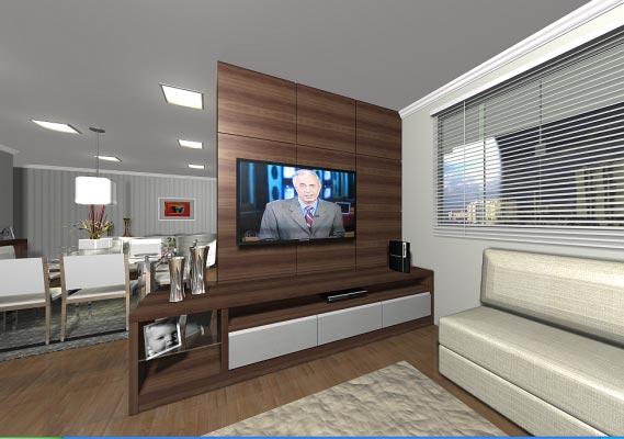 Sala Tv Com Escritorio ~ Painel para sala de tv planejado  Decorando Casas