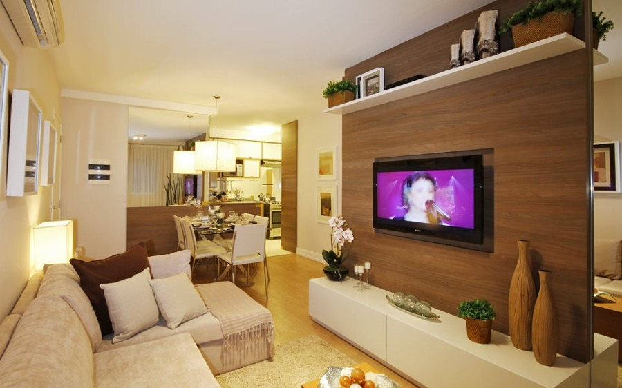 Salas De Estar Para Ver Television ~ Painel para sala de tv planejado  Decorando Casas