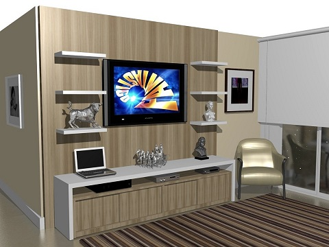 Painel para sala de tv planejado
