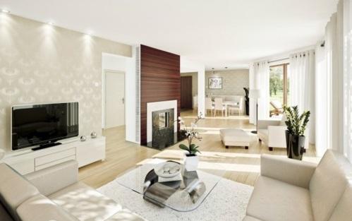 decoração de sala com cores claras