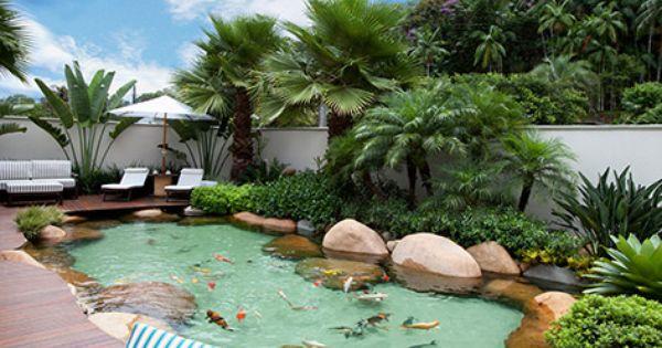 Como fazer um lago artificial no jardim