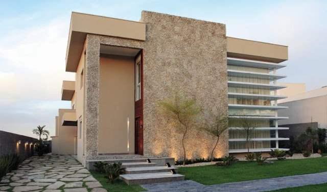 Fachadas de casas com pastilhas decorando casas for Fachadas de pisos modernos