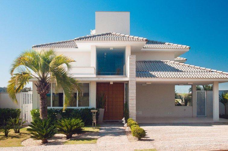 Fachadas De Casas Modernas Com Telhado Colonial