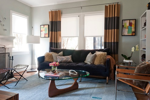 cortinas para sala moderna 2016
