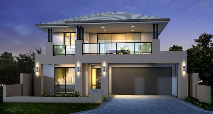 Fachadas de casas modernas 2 andares decorando casas for Double story modern house plans