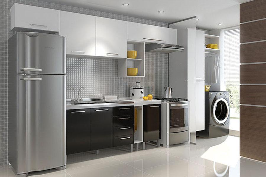 Suficiente Decoração de lavanderia de apartamento pequeno | Decorando Casas YP33