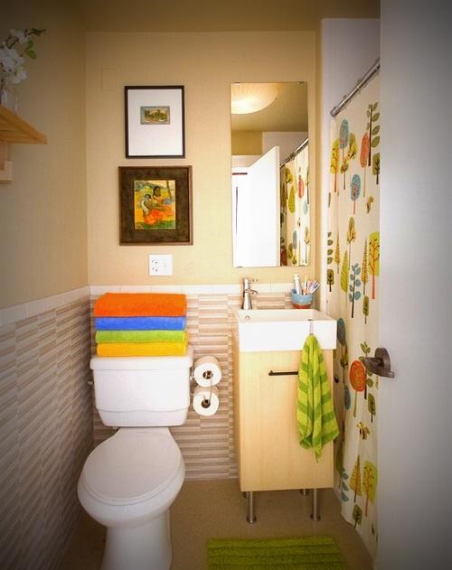 Decoração do banheiro de apartamento pequeno  Decorando Casas -> Decoracao Banheiro Apartamento