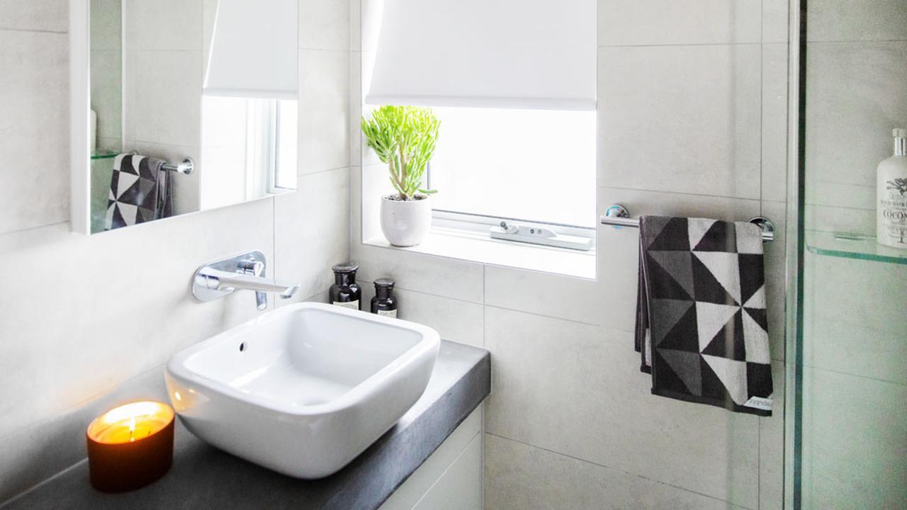 Decoração do banheiro de apartamento pequeno  Decorando Casas -> Decoracao De Banheiro Apartamento Pequeno