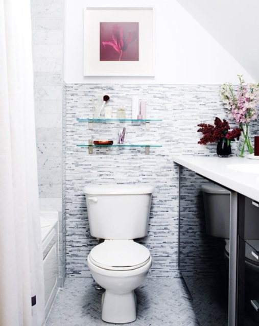 Decoração do banheiro de apartamento pequeno
