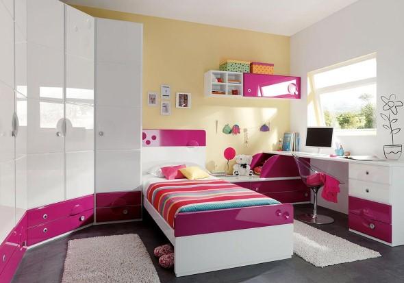 Decoração quarto de solteiro pequeno feminino Decorando  ~ Quarto Solteiro Pequeno