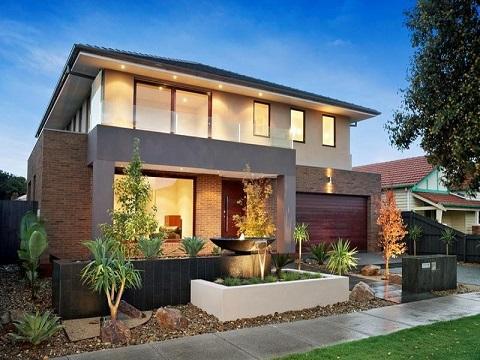 Fachadas de casas com cer mica decorando casas for Fachada de casas modernas con balcon