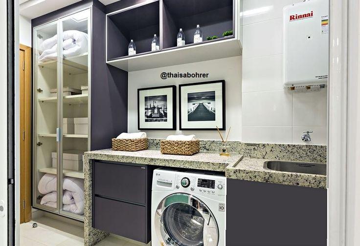 Super Lavanderia planejada para apartamento pequeno | Decorando Casas MM04
