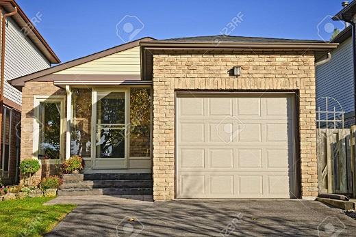 garagem com telhado embutido