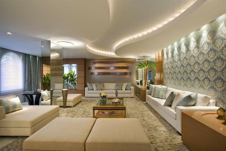 Ambientes e casas decoradas com gesso decorando casas for Interiores de casas 2016
