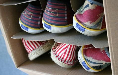 Como organizar sapatos de forma criativa