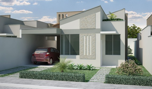 Decora o exterior de casas pequenas decorando casas for Fotos de casas pequenas de dos plantas