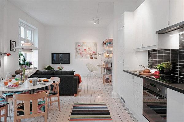 Decoração: interior de casas pequenas