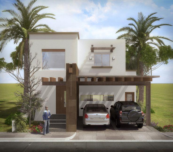 Fachadas de casas modernas com pergolado decorando casas for Frente casa moderna