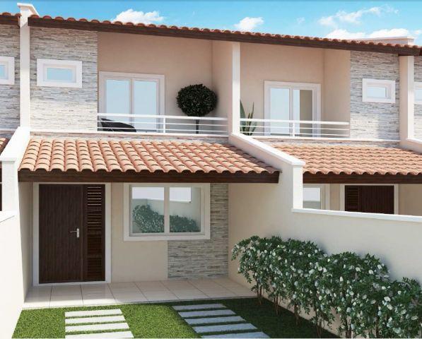 Fachadas de casas populares com pedras decorando casas for Casas duplex modernas