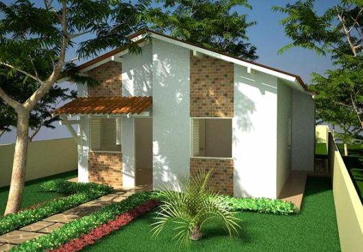 Fachadas de casas populares com pedras decorando casas for Casa popular