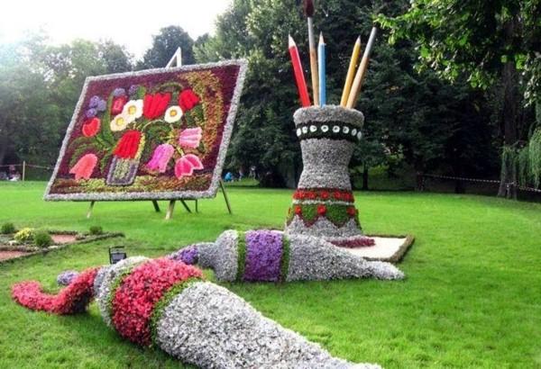jardins ideias criativas:Pretty Flower Garden
