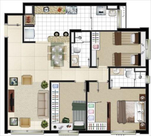 Plantas de casas para construir decorando casas for Planos de casas para construir de una planta