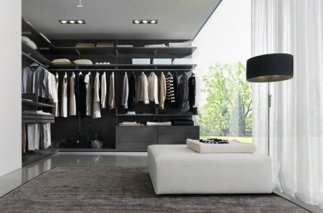 Closets modernos e planejados para quarto