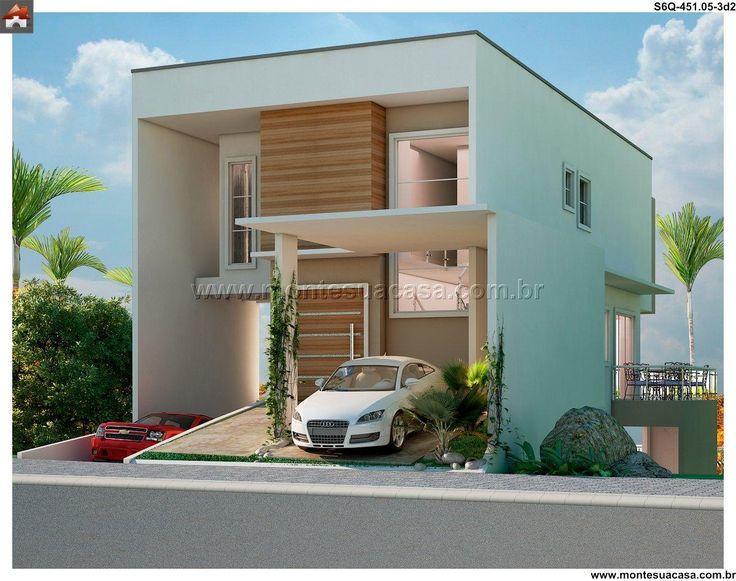 Projetos de sobrados com 6 metros de frente decorando casas for Fachadas para apartamentos pequenos