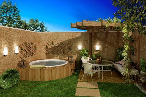Imagens de casas com jardins e piscinas decorando casas - Casas de madera con piscina ...