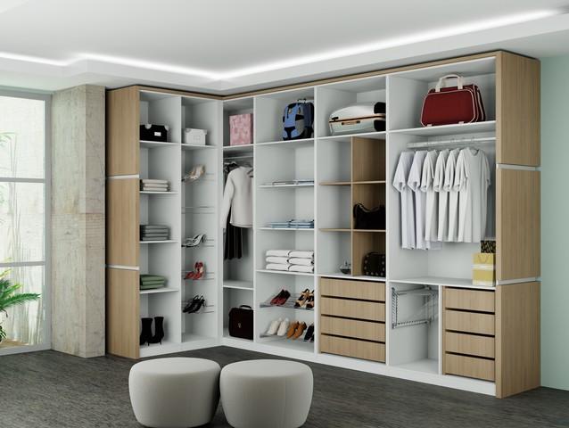 Projetos de closets pequenos com medidas decorando casas for Tipos de closet para dormitorios