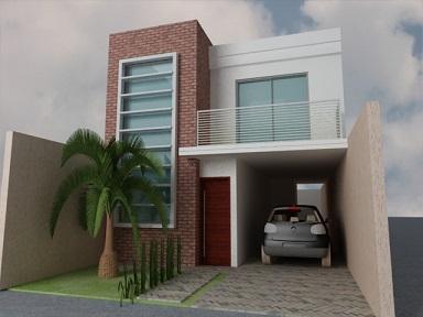 Projetos de sobrados com 6 metros de frente decorando casas for Casas minimalistas baratas