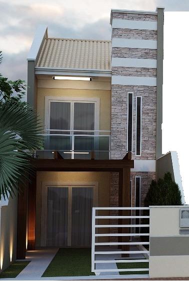 Projetos de sobrados com 6 metros de frente decorando casas for Decoracion de casas de 7 metros