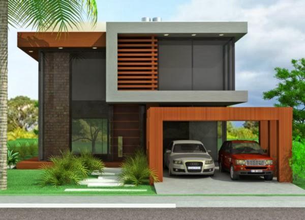 Projetos de sobrados sem telhado decorando casas for Fachadas de pisos modernos