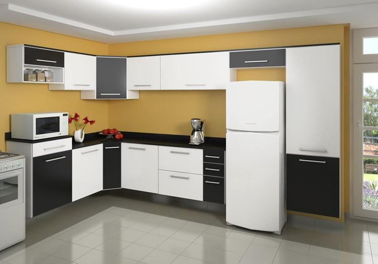Aparador Aliança ~ Wibamp com Armario De Cozinha Preto E Branco Planejado ~ Idéias do Projeto da Cozinha para a