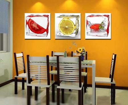 3a18c4638 Decoração  Quadros modernos para sala de jantar