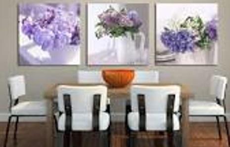 Quadros modernos para sala de jantar
