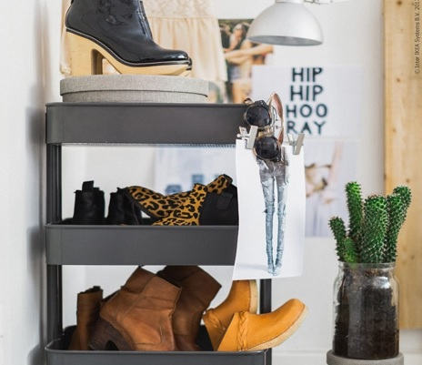 Como organizar sapatos em pouco espaço-