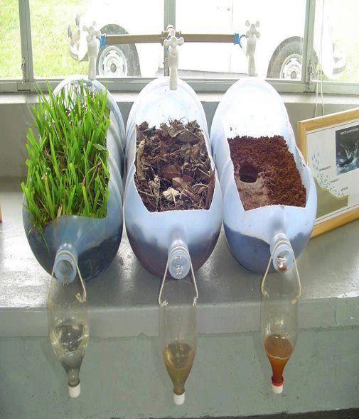 Como fazer um jardim com material reciclável