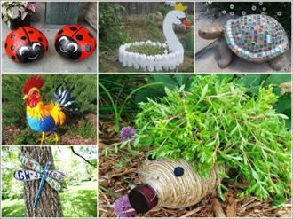 Como fazer um jardim com material recicl vel decorando for Best out of waste garden ideas
