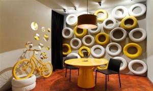 Decoração com material reciclado para sala