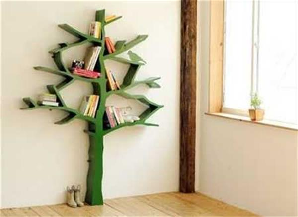 Decoração de parede com material reciclado