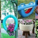 Decoração-de-quintal-com-material-reciclável